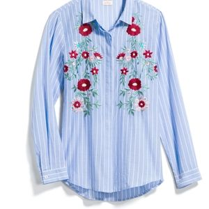 Pixley Ryan Embroidered Cotton Blouse